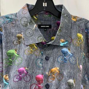 JARED LANG animals on bikes shirt